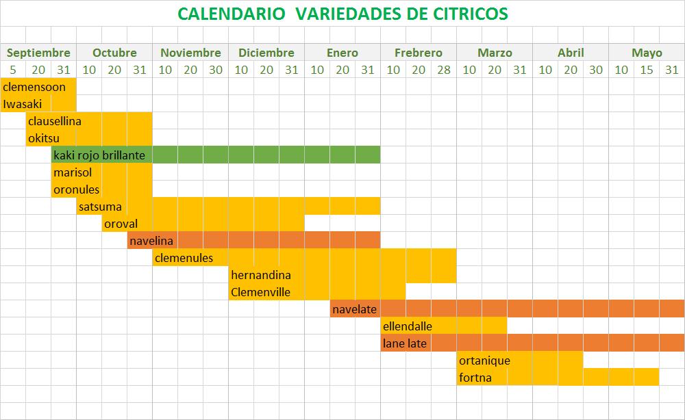 calendario cítricos