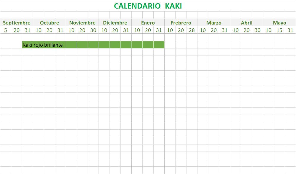 calendario kakis